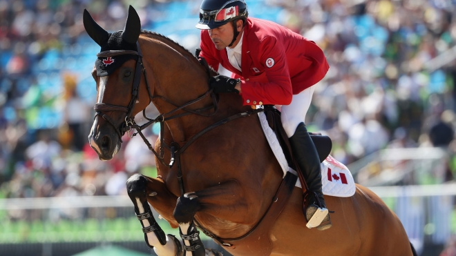 Eric Lamaze with Fine Lady 5 at the Olympic Games