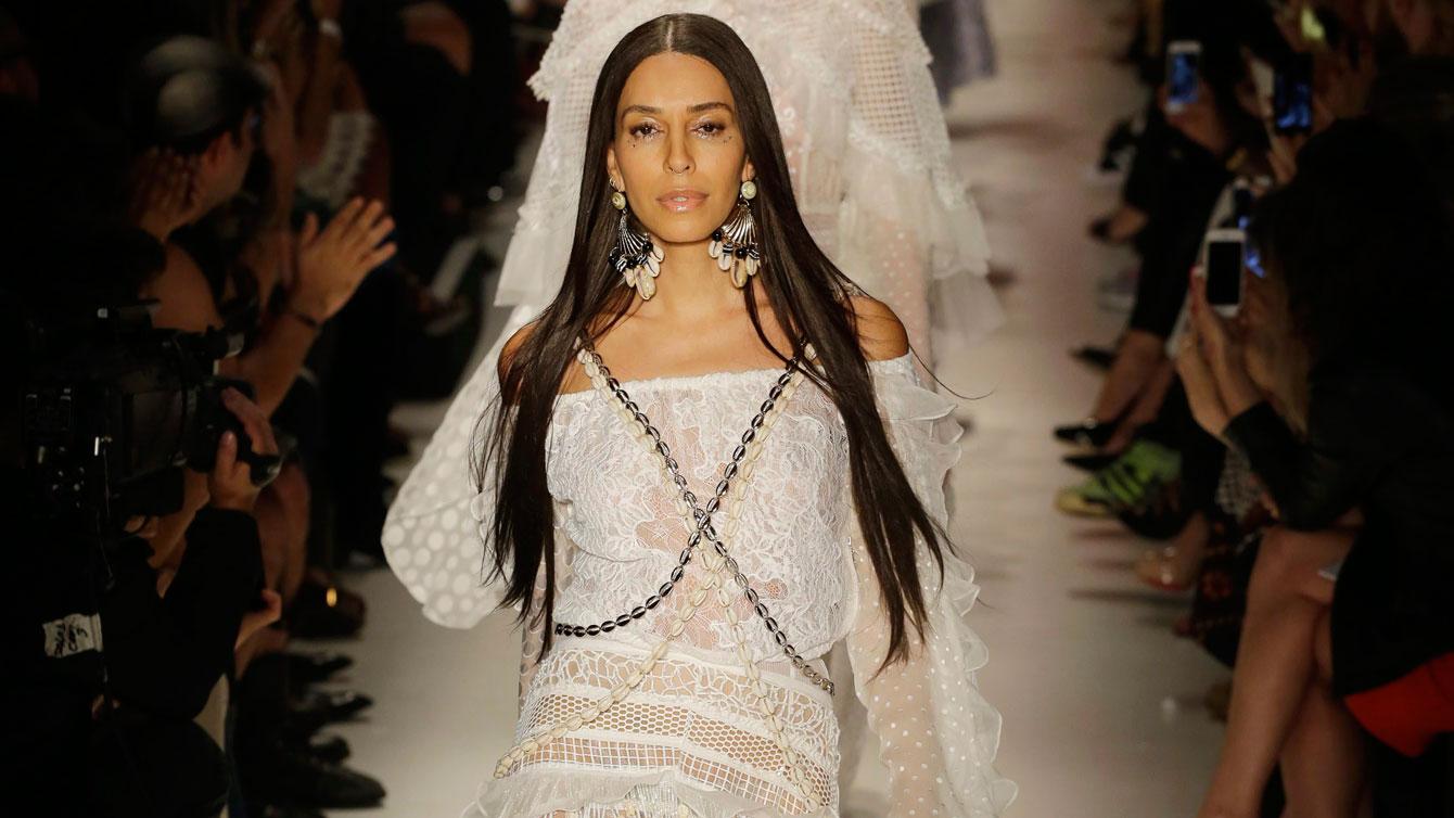 Brazilian transsexual model Lea T. during Sao Paulo Fashion Week in Sao Paulo, Brazil, April 16, 2015. (AP Photo/Nelson Antoine)