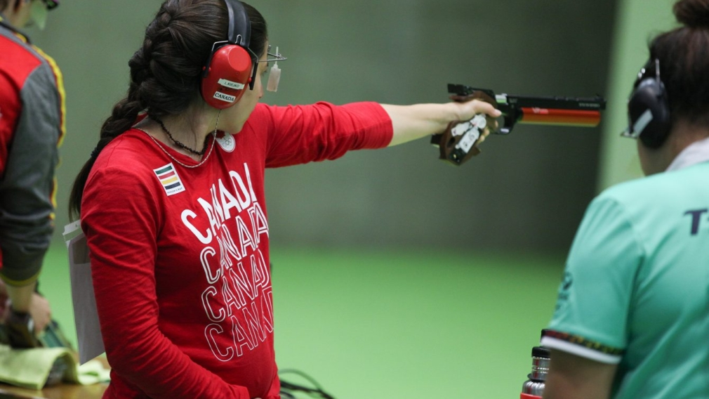 Lynda Kiejko prepares for a shot