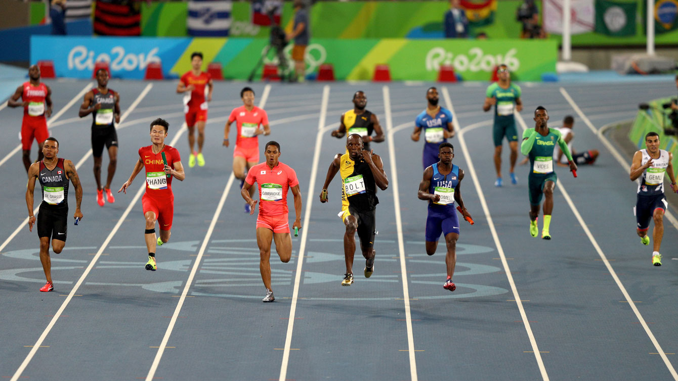 Rio 2016: Men's 4x100m relay on August 19, 2016.