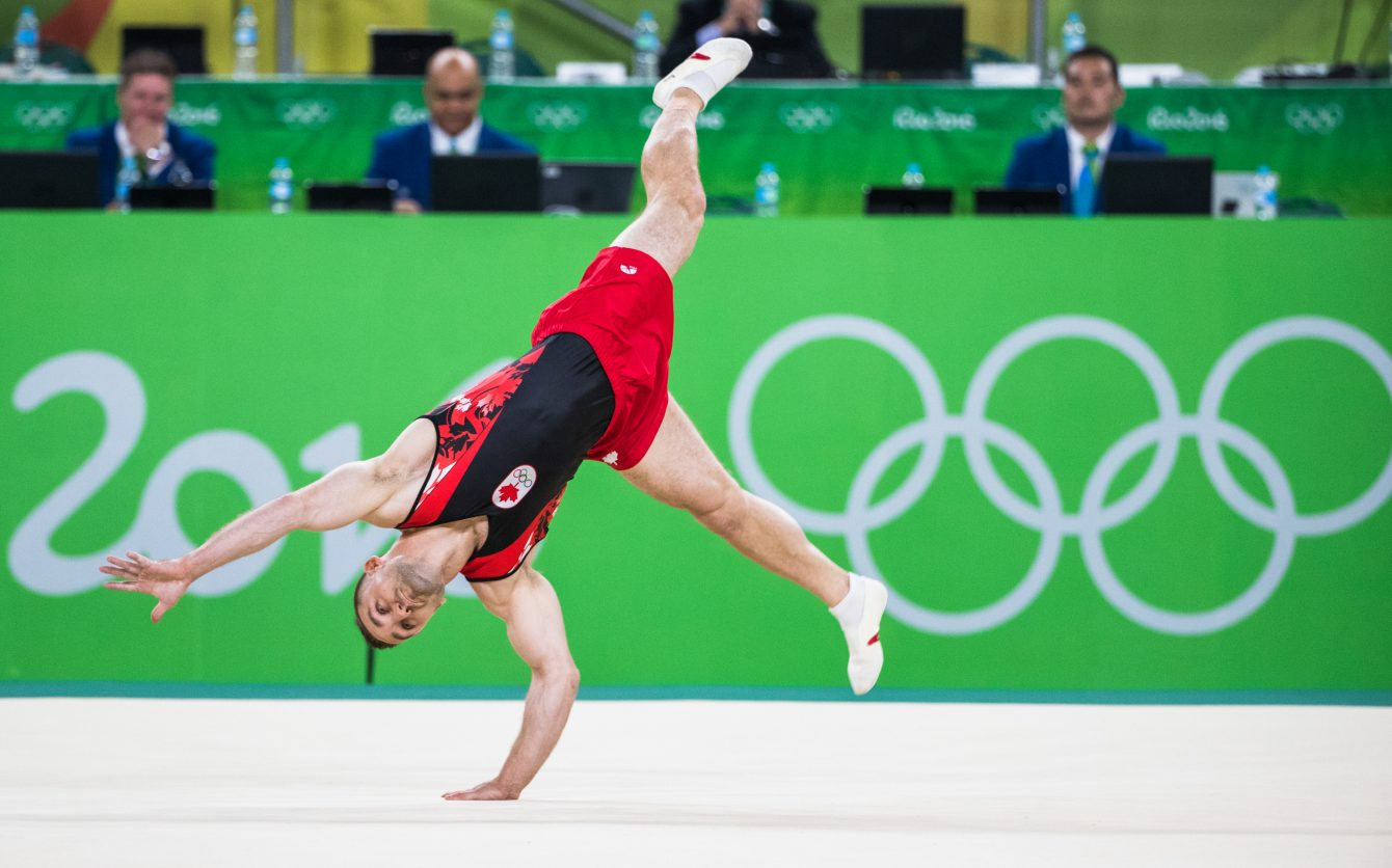 Scott Morgan on floor exercise at Rio 2016