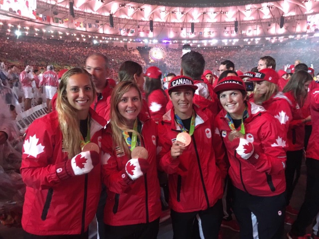 Team Canada rugby at Rio 2016 on August 21, 2016. (COC/Mark Blinch)