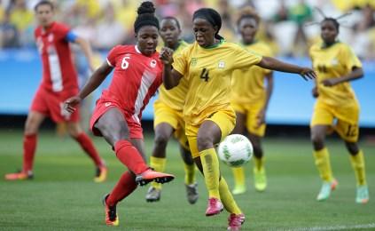 Women's Soccer, Rio 2016, Aug. 6, 2016. AP Photo/Nelson Antoine