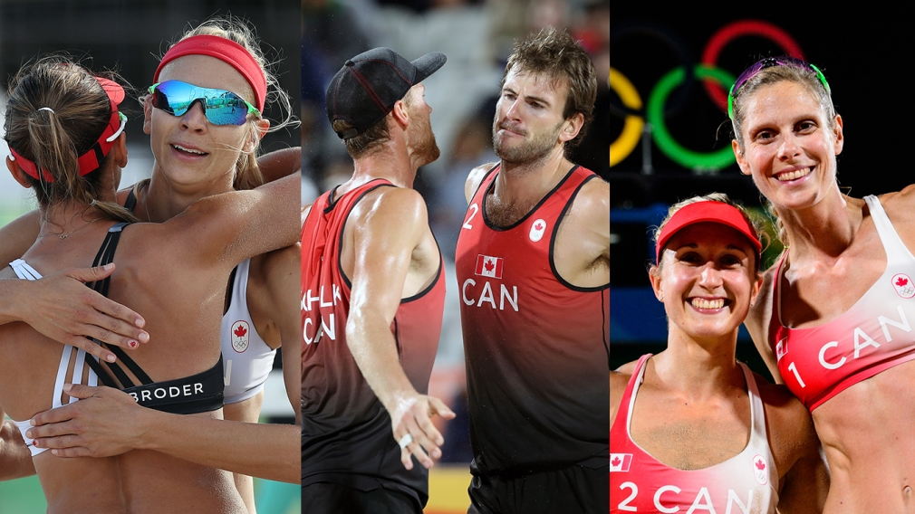 Three Canadian beach volleyball duos reach Olympic playoff stage