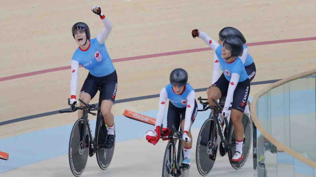 Canada wins second straight Olympic bronze in women's team pursuit