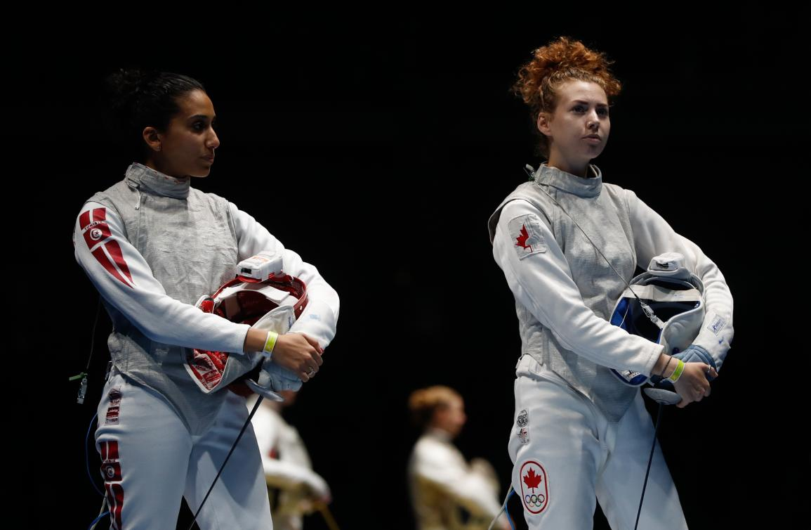 Eleanor Harvey competes at Rio 2016. Photo: Mark Blinch