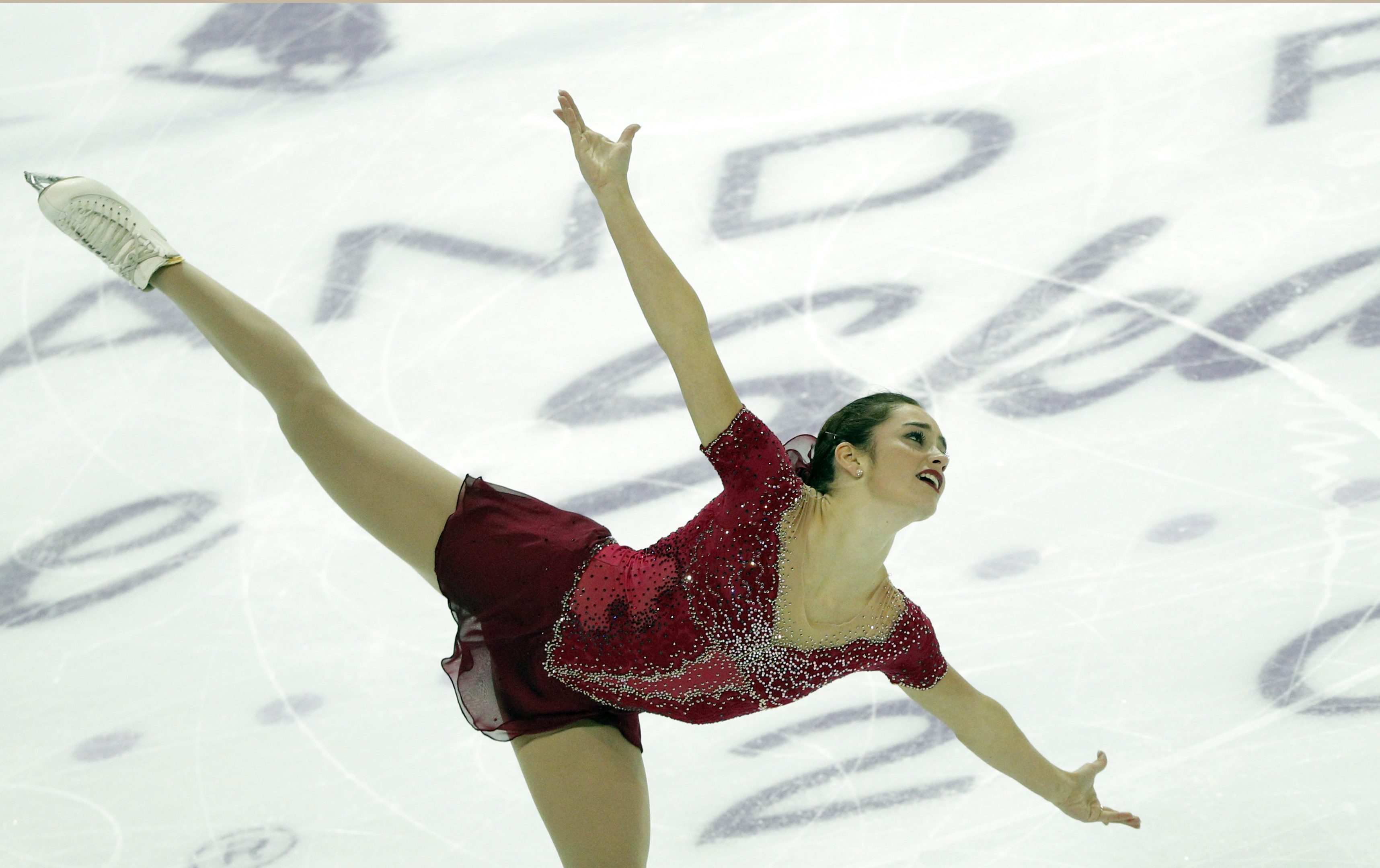 Kaetlyn Osmond of Canada competes in the Ladies Free Skating Program during ISU Grand Prix of Figure Skating Final in Marseille, southern France, Saturday, Dec. 10, 2016. (AP Photo/Christophe Ena)