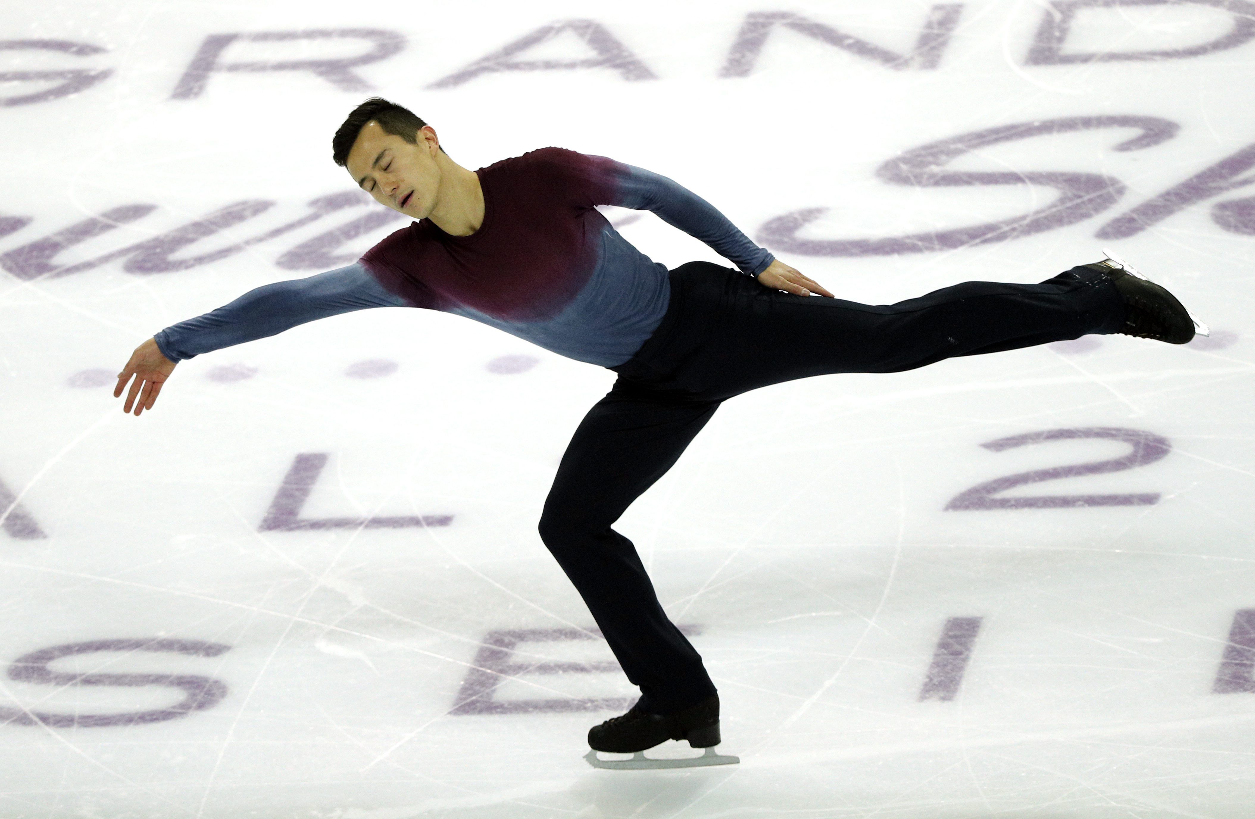 Patrick Chan of Canada competes in the Men Free Skating Program during ISU Grand Prix of Figure Skating Final in Marseille, southern France, Saturday, Dec. 10, 2016. (AP Photo/Christophe Ena)