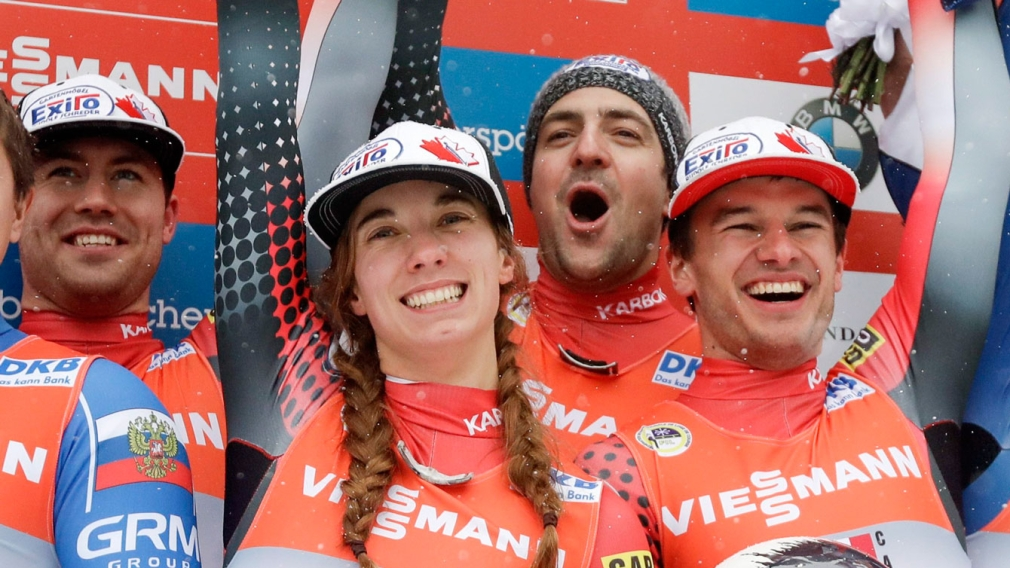 A historic day in luge leads to three World Cup podiums