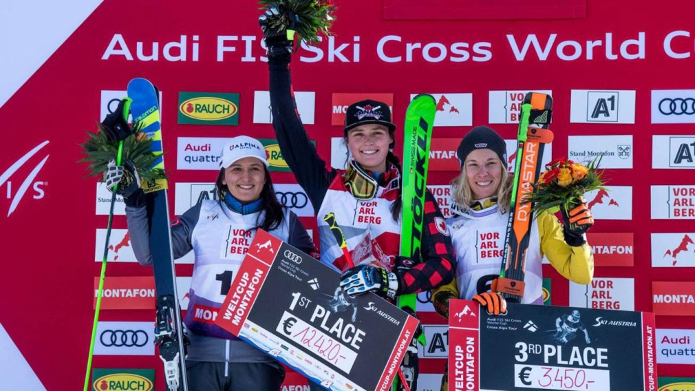 Thompson wins third ski cross gold of the season in Austria