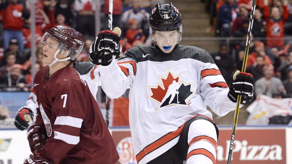 Raddysh racks up four goals in World Juniors win over Latvia