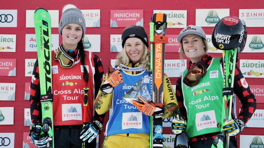 Thompson and Simmerling share ski cross podium in Italy