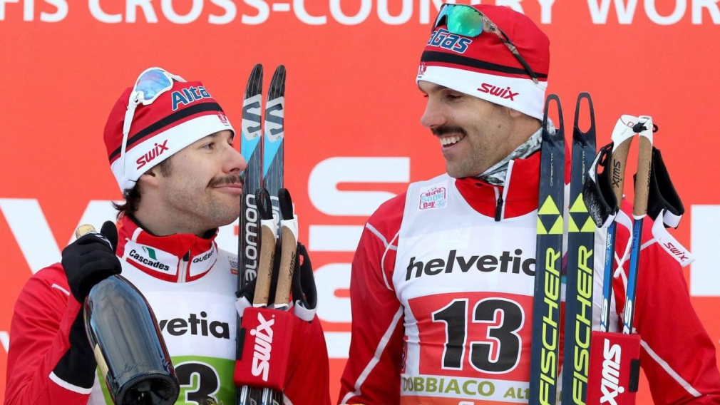 Harvey and Valjas surprise with World Cup team sprint gold in Italy
