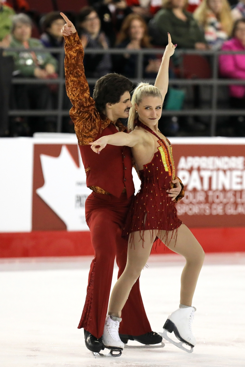 Piper Gilles and Paul Poirier in the short dance at the Canadian Tire National Skating Championships, January, 20, 2017 PHOTO: Greg Kolz