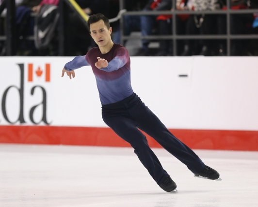 Patrick Chan in the free skate at the Canadian Tire National Skating Championships, January, 21, 2017 PHOTO: Greg Kolz
