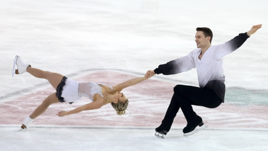 Kirsten Moore-Towers and Michael Marinaro in the free skate at the Canadian Tire National Skating Championships, January, 21, 2017 PHOTO: Greg Kolz