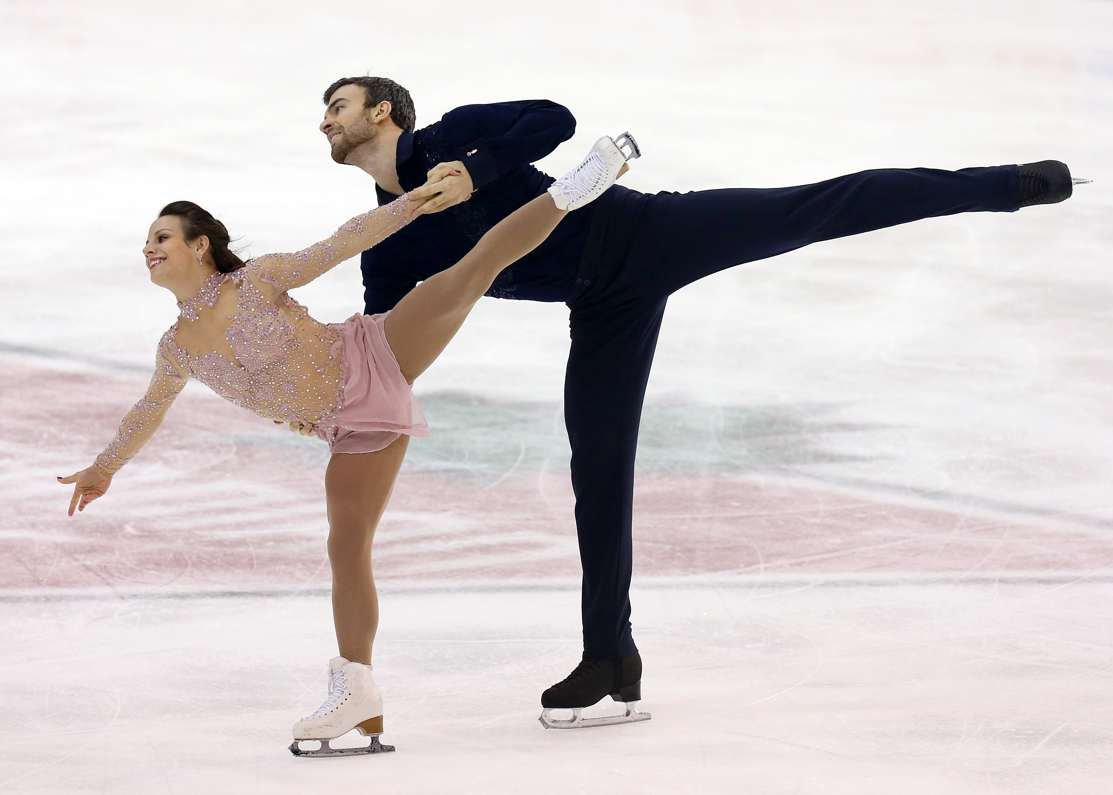 Meagan Duhamel and Eric Radford compete in the pairs free skate at the Canadian Tire National Skating Championships, January, 21, 2017 PHOTO: Greg Kolz