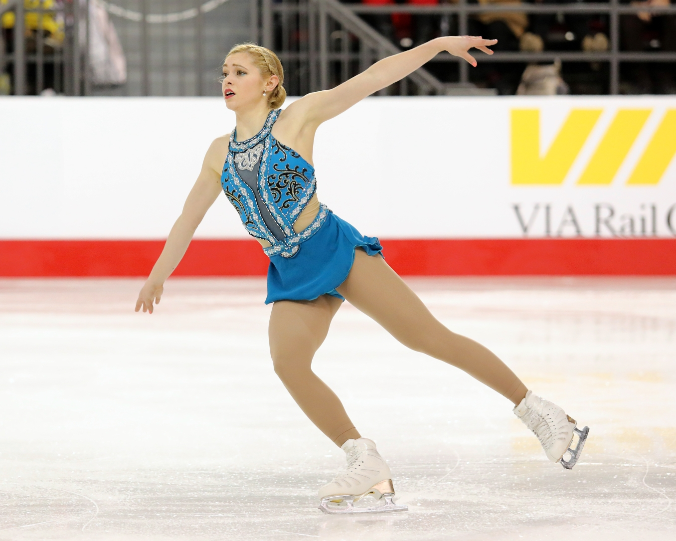 Alaine Chartrand in the free skate at the Canadian Tire National Skating Championships, January, 21, 2017 PHOTO: Greg Kolz