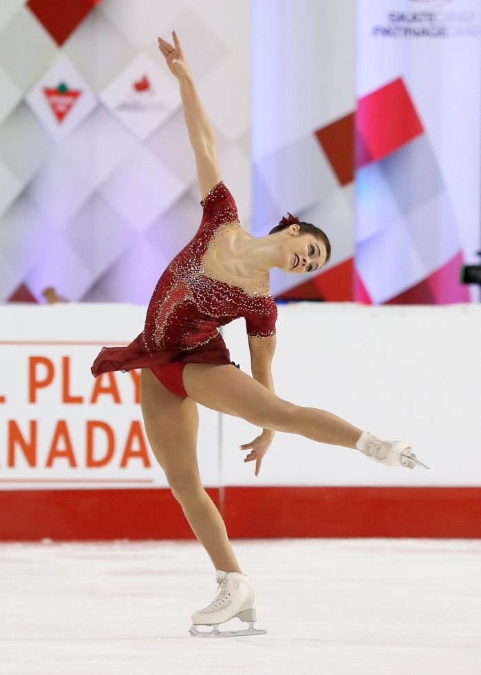 Kaetlyn Osmond in the free skate at the Canadian Tire National Skating Championships, January, 21, 2017 PHOTO: Greg Kolz