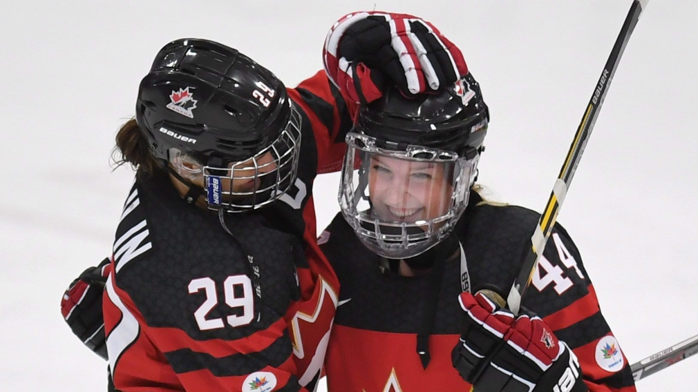 Team Canada defeats Russia for first win of women's hockey worlds