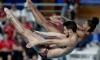 Abel and Imbeau-Dulac land second straight World Series mixed synchro gold