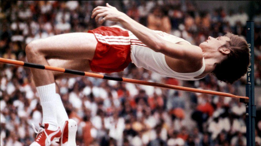 Joy over the pole in high jump
