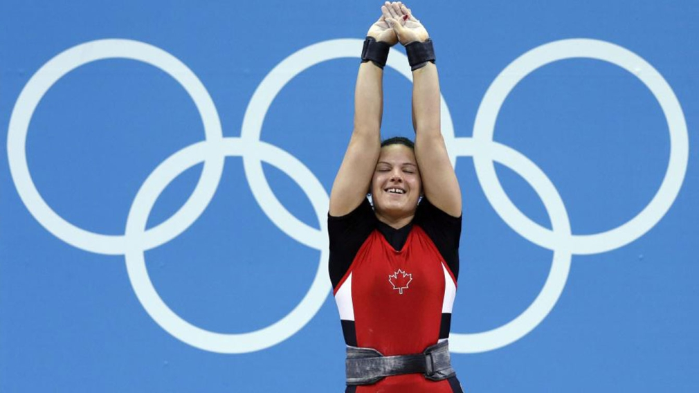 """""""Thrilled"""" Christine Girard reacts to becoming Olympic champion"""