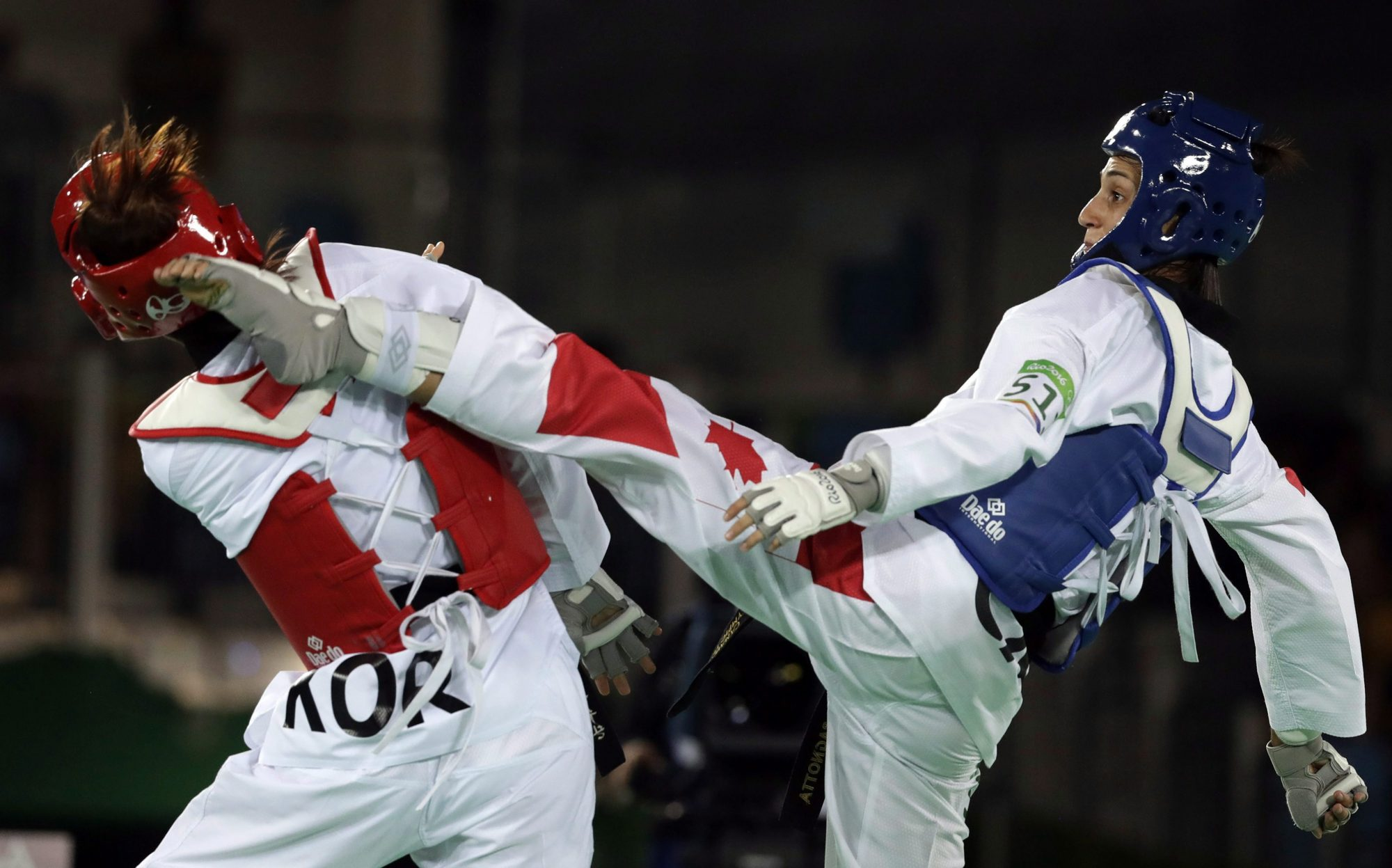 Melissa Pagnotta competes in taekwondo