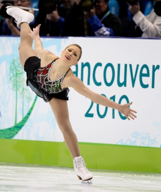 Canada's Joannie Rochette performs her short program during the women's figure skating competition at the Vancouver 2010 Olympics in Vancouver, British Columbia, Tuesday, Feb. 23, 2010. (AP Photo/Mark Baker)