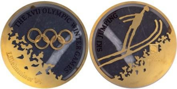 Ski jumping medals from Lillehammer 1994 (Photo: BBC News)
