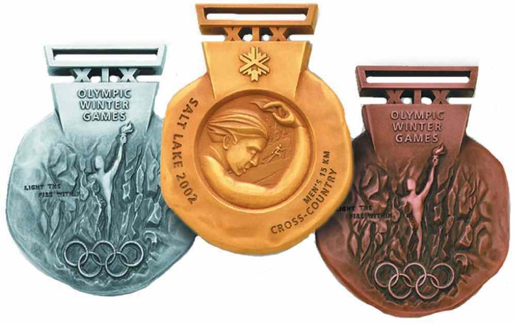 The medals of Salt Lake City 2002 (Photo: Pinterest)