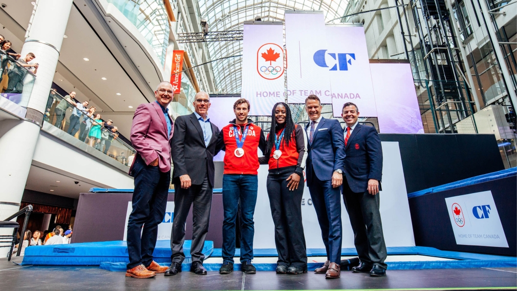 """Cadillac Fairview properties named """"The Official Home of Team Canada"""""""