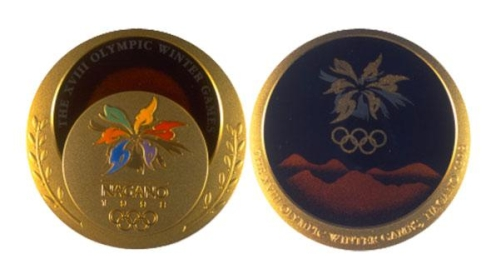 The Nagano 1998 medals (Photo: Olympic Artifacts)