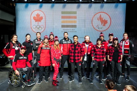 Team Canada showcases Hudson's Bay collection for PyeongChang 2018 (Photo by Adam Pulicicchio)