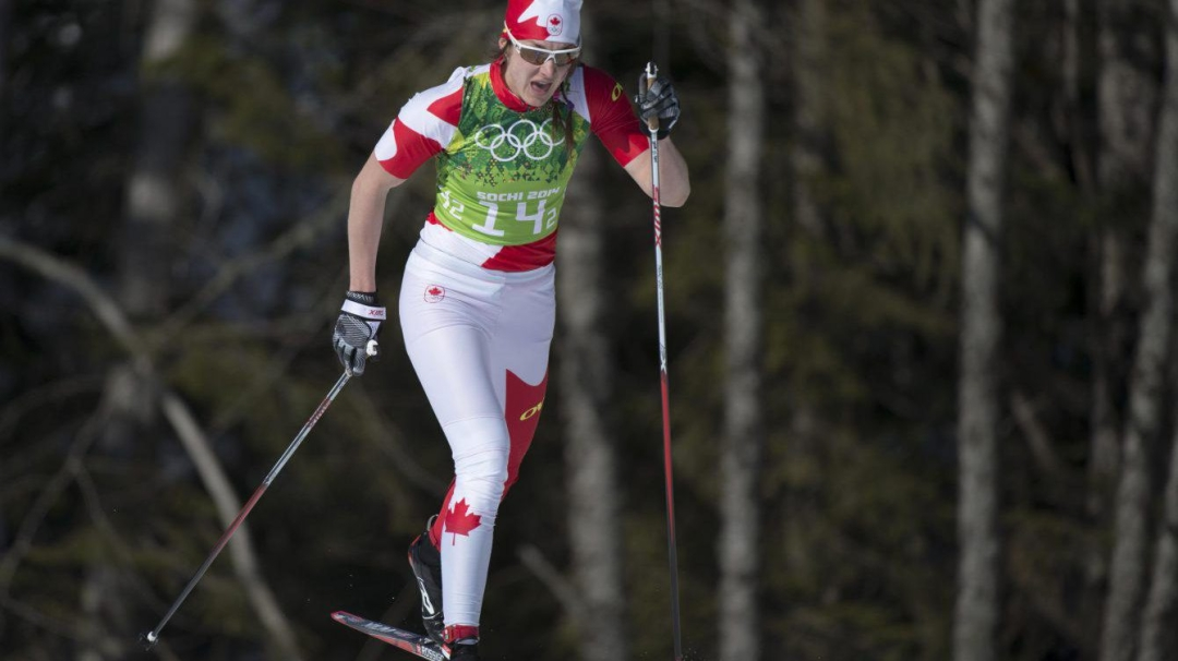 Team Canada - Daria Gaiazova competes in the Ladies' 4x5km Relay at the 2014 Sochi Winter Olympics..