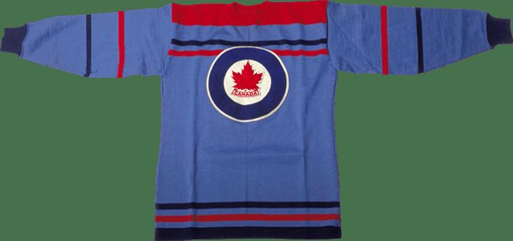 Team Canada Olympic hockey jersey 1948 (image found http://jerseys.hockeycanada.ca).