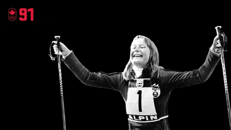 Just 18-years-old, Kathy Kreiner was competing in her second Olympic Games at Innsbruck 1976 when she won giant slalom gold to become alpine skiing's youngest Olympic champion at the time. It fulfilled her dream of winning the same Olympic event as Nancy Greene had done 8 years earlier. BE EXCELLENT