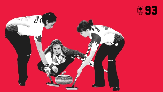 At Sochi 2014, Jennifer Jones skipped her rink of Kaitlyn Lawes, Jill Officer, Dawn McEwen and Kirsten Wall to a perfect 11-0 record, becoming the first women's curling team to ever go undefeated at the Olympic Games. They won Canada's first Olympic gold in women's curling since 1998. BE EXCELLENT