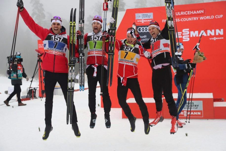 Team Canada - Lenny Valjas, Alex Harvey, Knute Johnsgaard, Devon Kershaw