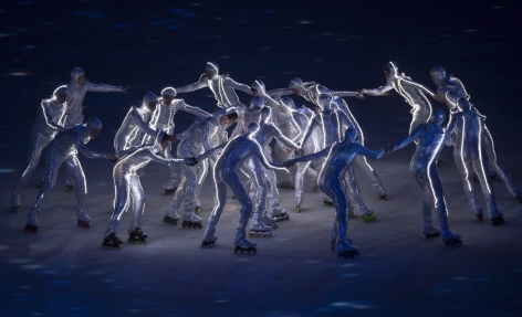 Characters perform during the opening ceremony of the 2014 Winter Olympics in Sochi, Russia, Friday, Feb. 7, 2014. THE CANADIAN PRESS/Paul Chiasson