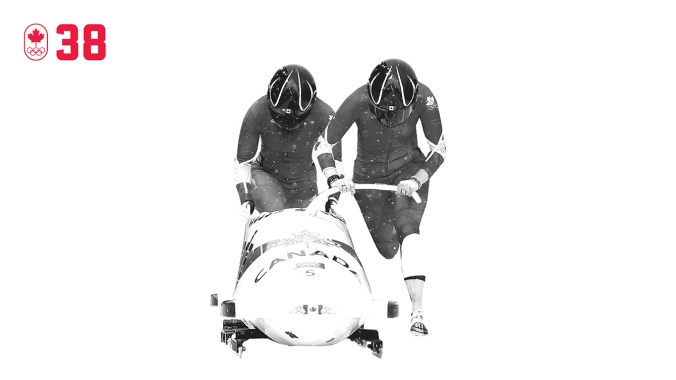 The first Canadian woman to win a World Cup bobsleigh medal, Helen Upperton missed the podium at Turin 2006 by 0.05 of a second. At Vancouver 2010, she and brakeman Shelley-Ann Brown were fifth after the first run, but slid their way up the standings to the silver medal. BE DETERMINED.