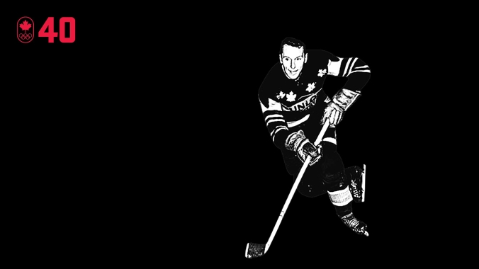 Captain of the Kitchener-Waterloo Dutchmen, Jack McKenzie not only led the fundraising charge to get his team to Cortina d'Ampezzo 1956, he scored seven goals in eight games as Canada won the bronze medal. He was unanimously named the tournament's best forward by Olympic hockey officials, despite playing most of his time on defence. BE A LEADER