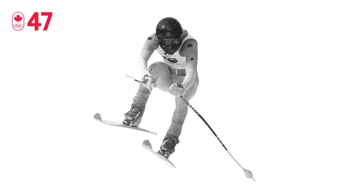 Days before what should have been his Olympic debut, Steve Podborski ruptured two major knee ligaments. Lying in bed, he decided never to compete knowing he hadn't trained as much as he should. Four years later he won bronze at Lake Placid 1980, the first non-European man to win an Olympic downhill medal. BE DETERMINED