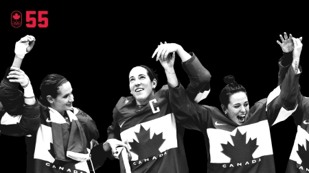 Caroline Ouellette captained the Canadian women's hockey team to its fourth straight Olympic gold at Sochi 2014 and made her own history. She became the only athlete to enter at least four Winter Olympic events in her career and win gold in all of them. BE EXCELLENT