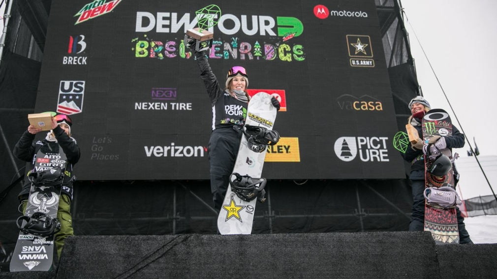O'Brien and Parrot win slopestyle golds at Dew Tour
