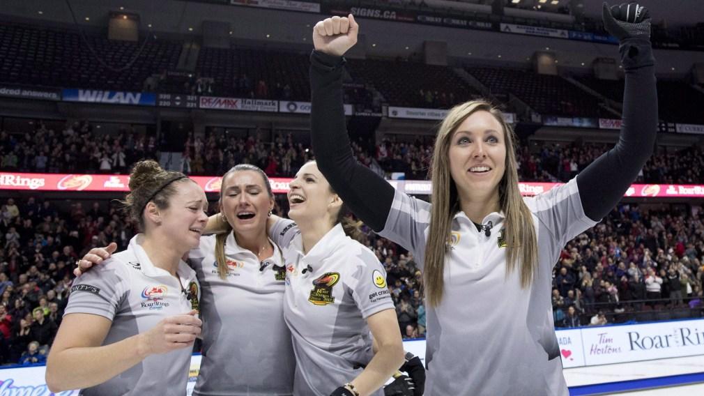 Team Canada Rachel Homan Lisa Weagle Joanne Courtney Emma Miskew