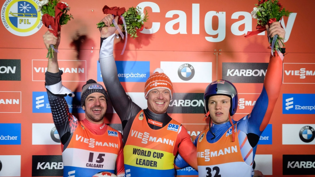 Edney captures silver at luge World Cup in Calgary