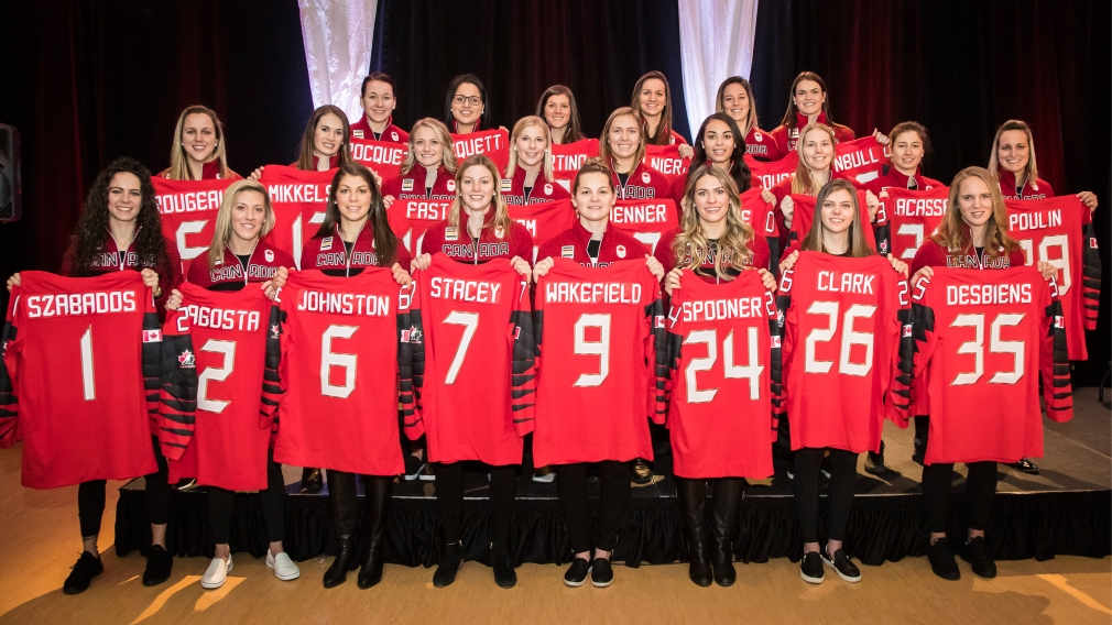 Canadian women's hockey team named for  2018 Olympic Winter Games