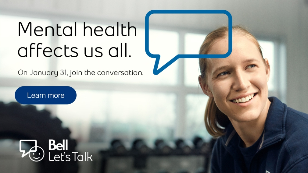 End the mental health stigma on Bell Let's Talk Day