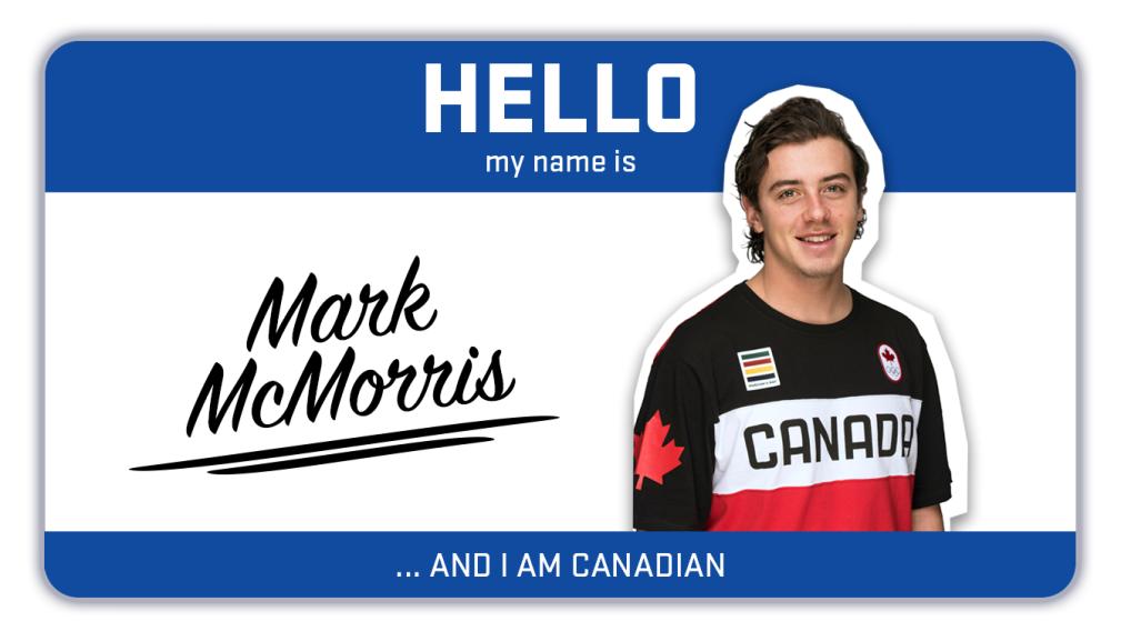 Hi, my name is Mark McMorris and I snowboard